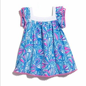 Lilly Pulitzer My Fans Toddler Dress 2T